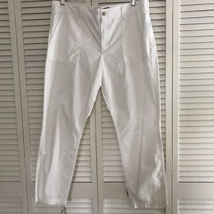 Lauren, Ralph Lauren White Cotton Pants, Size 14